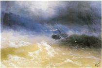 Uragano su un mare - Ivan Aivazovsky
