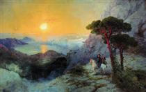 Pushkin in cima al monte Ai-Pétri all'alba - Ivan Aivazovsky