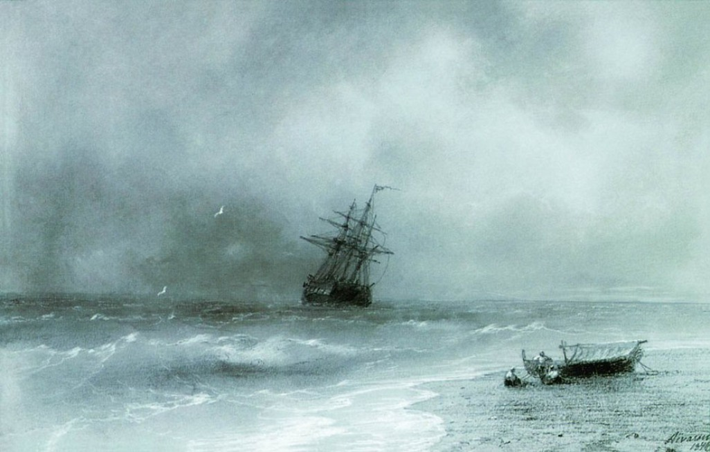 Rough sea, 1844