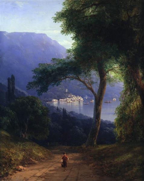 View from Livadia, 1861 - Ivan Aivazovsky