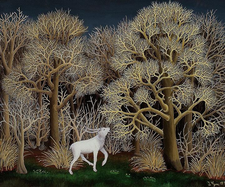 Deer in the forest, 1956 - Ivan Generalic