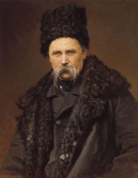 Портрет поэта и художника Тараса Григорьевича Шевченко, 1871 - Иван Крамской