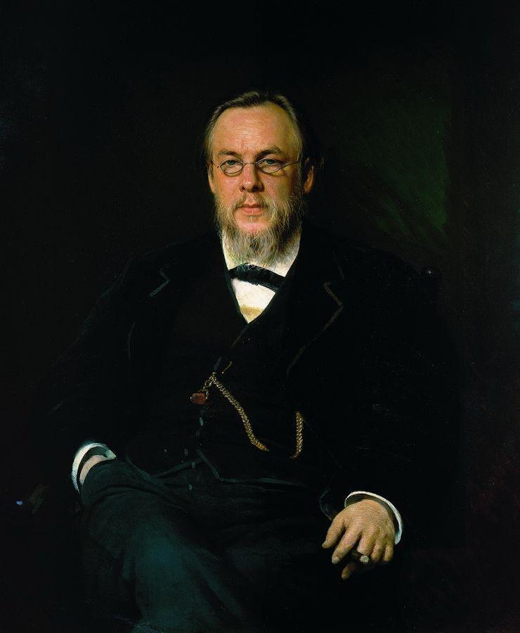Portrait of Dr. Sergei Petrovich Botkin - Ivan Kramskoy ...