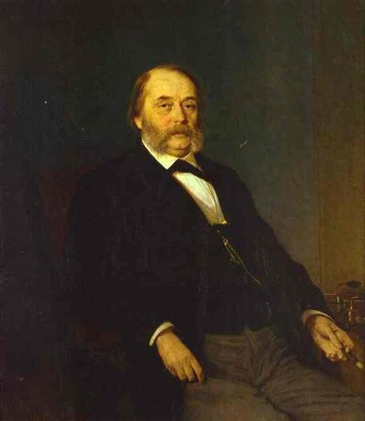 Portrait of the Author Ivan Goncharov, 1874 - Ivan Kramskoy