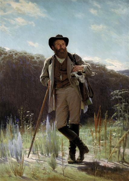 Portrait of the painter Ivan Shishkin, 1873 - Ivan Kramskoy