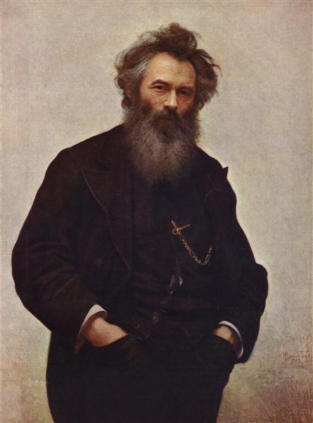 Portrait of the painter Ivan Shishkin, 1880 - Ivan Kramskoy