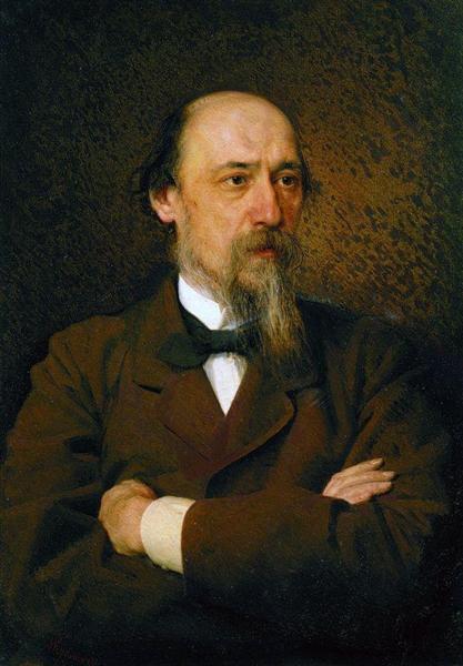 Portrait of the poet Nikolai Nekrasov, 1877 - Ivan Kramskoy