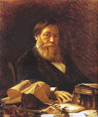 Russian writer Pavel Melnikov, 1876 - Ivan Kramskoy