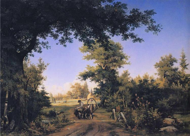 View in the Vicinity of St. Petersburg, 1856 - Ivan Shishkin