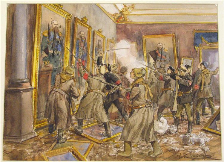 The pogrom of the Winter Palace - Ivan Vladimirov