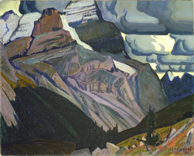 Dark Autumn, Rocky Mountains, 1930 - J. E. H. MacDonald