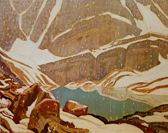 Mountain Snowfall, Lake Oesa, 1932 - J. E. H. MacDonald