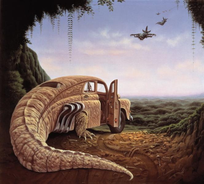 Attack At Dawn, 1989 - Jacek Yerka