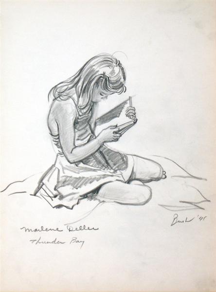 Marlene Deller, 1941 - Jack Bush