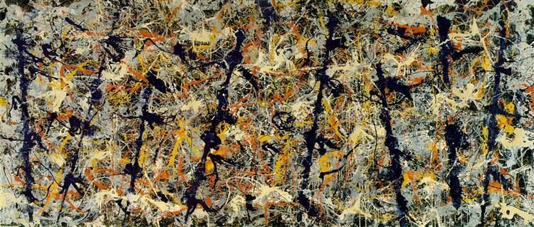 Blue poles (Number 11), 1952 - Jackson Pollock