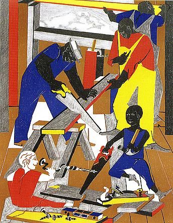 Workshop (Builders #1), 1972 - Jacob Lawrence