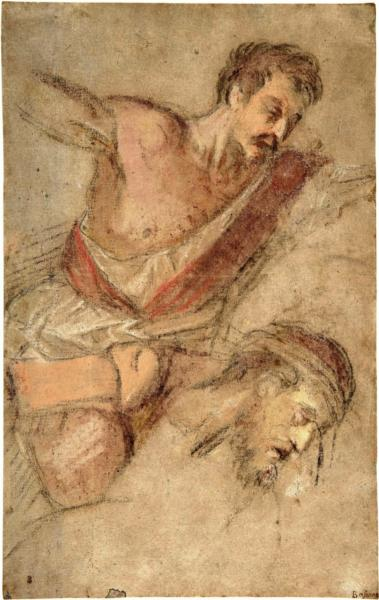 Studies for a Scourging Soldier and the Head of Christ, 1565 - Jacopo Bassano