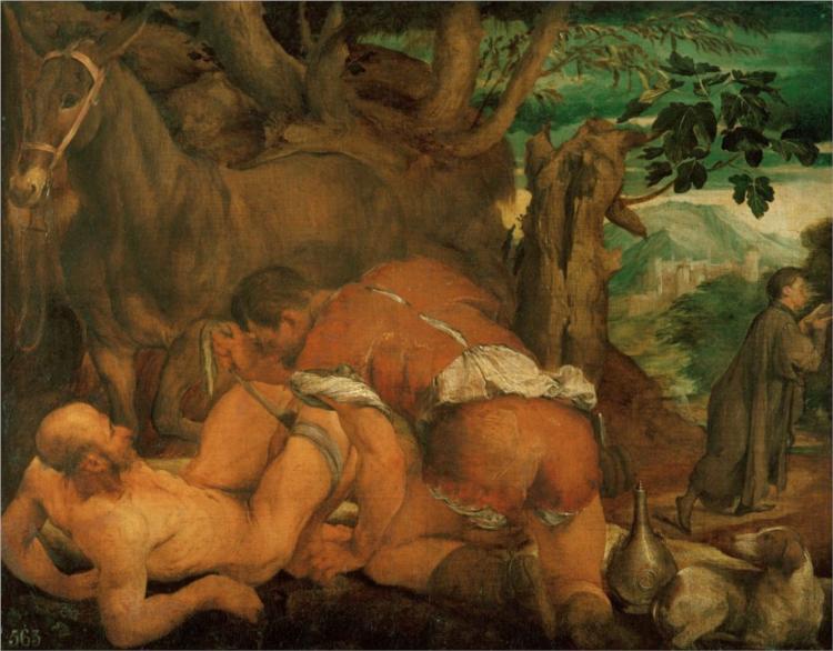 The Good Samaritan, 1550 - Jacopo Bassano