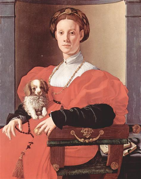 Portrait of a lady in red dress, c.1533 - Jacopo Pontormo