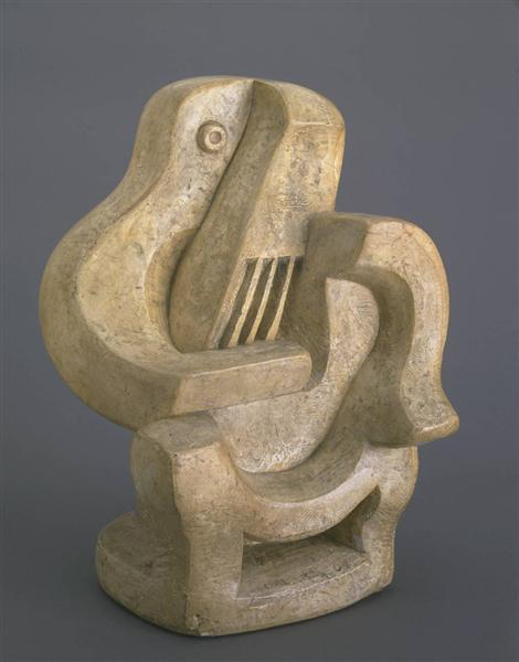 Guitar Player in Armchair - Jacques Lipchitz