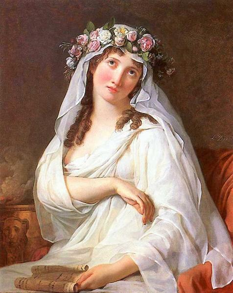 A Vestal Virgin Crowned With Flowers, 1783 - Jacques-Louis David