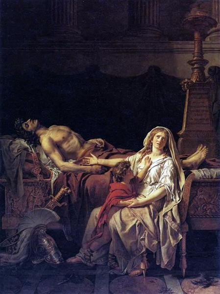 The Pain of Andromache, 1783 - Jacques-Louis David
