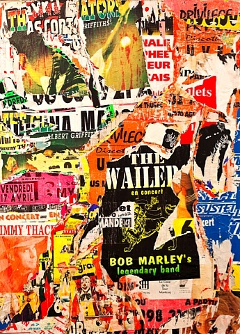 The Wailers & Bob Marley, Agen, 1998 - Jacques Villeglé