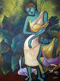 Lady with Ducks VII - Jahar Dasgupta