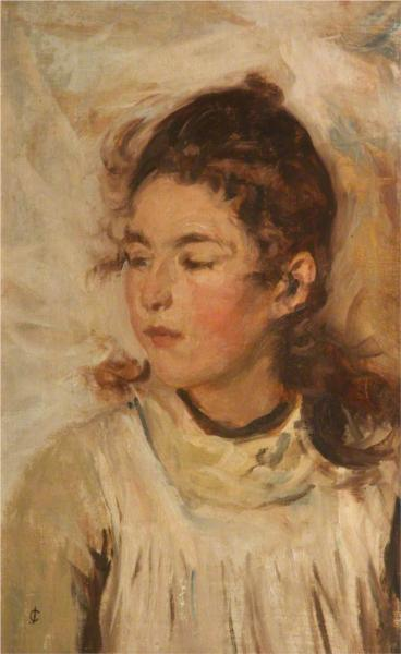 Portrait of the Artist's Daughter - James Charles