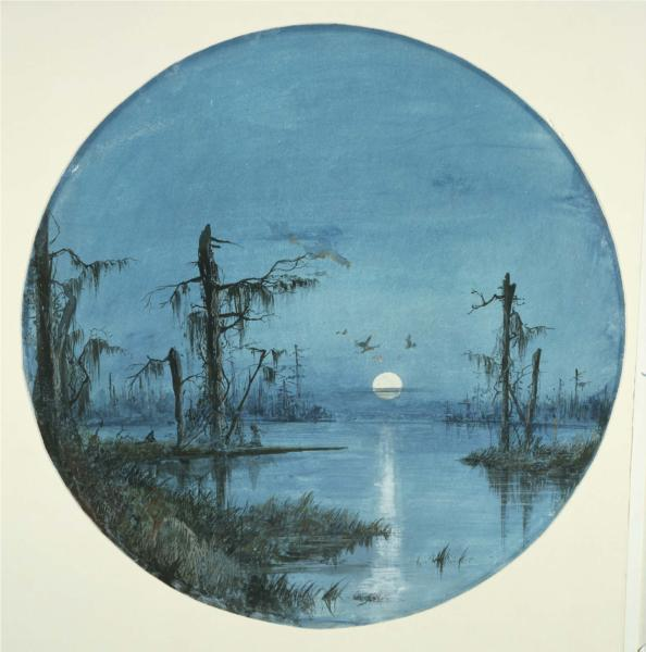 Bayou in Moonlight, 1864 - James Hamilton