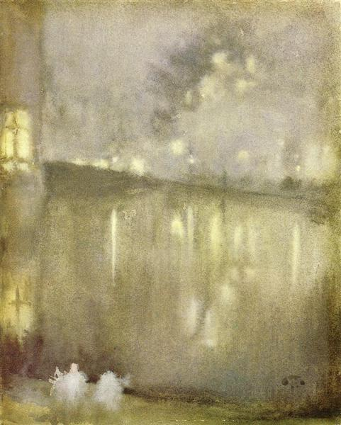 Nocturne Grey and Gold - Canal, 1883 - 1884 - James McNeill Whistler