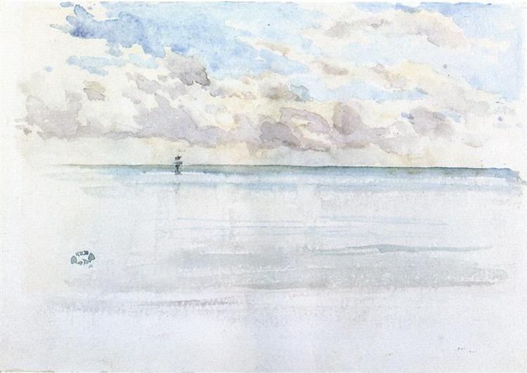 Seascape, Dieppe, c.1884 - c.1886 - James McNeill Whistler