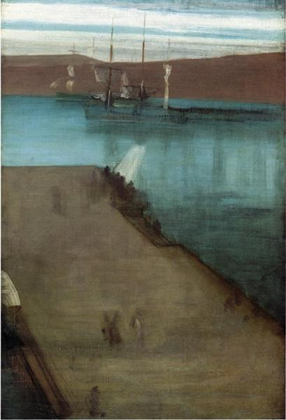 Sketch for Nocturne in Blue and Gold Valparaiso Bay, 1866 - James McNeill Whistler