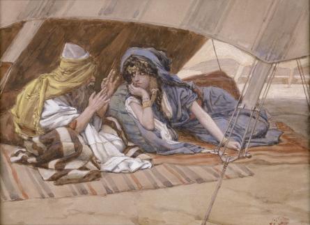 Abraham's Counsel to Sarai - James Tissot