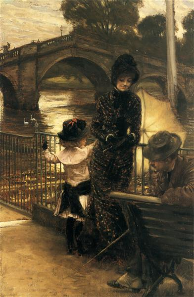 By the Thames at Richmond, c.1878 - c.1879 - James Tissot