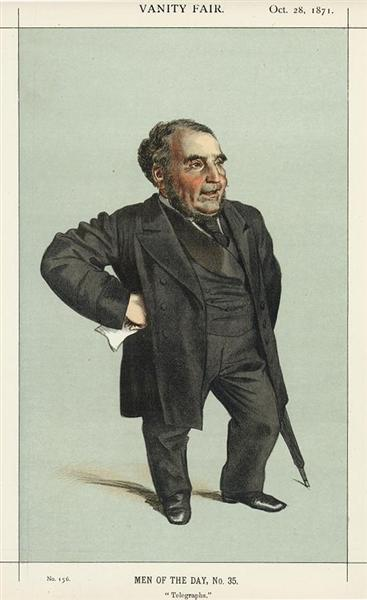 Man of the day No.35° - Caricature of John Pender, 1871 - James Tissot
