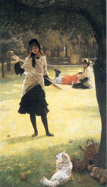 Croquet, 1878 - James Tissot