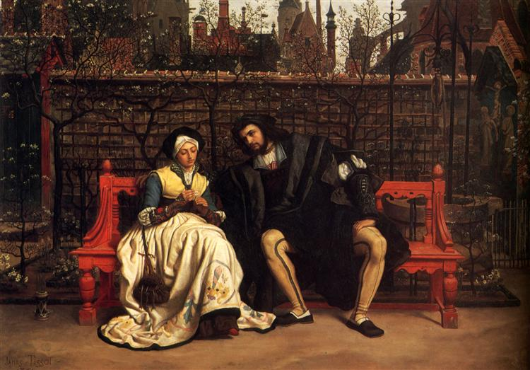 Faust and Marguerite in the Garden, 1861 - Джеймс Тіссо