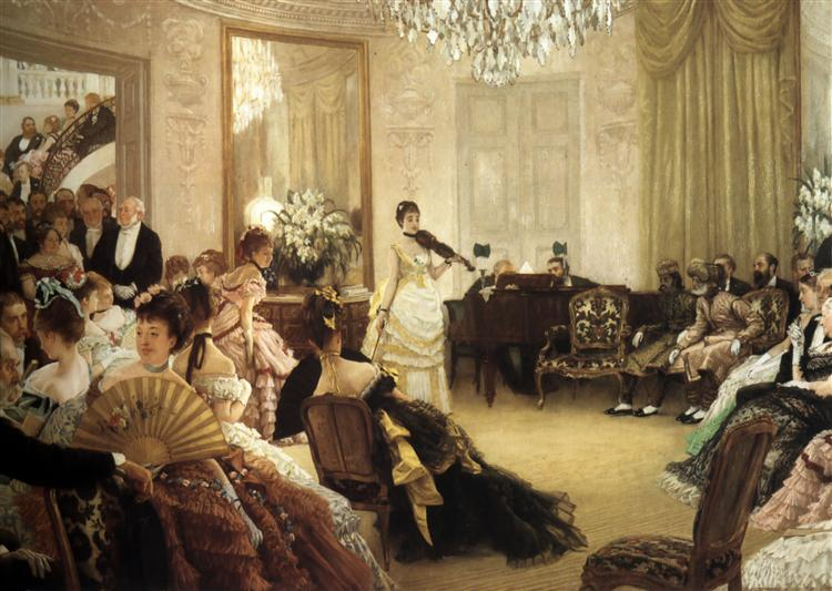 Hush! (The Concert) - James Tissot