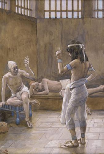 Joseph Interprets the Dreams While In Prison - James Tissot