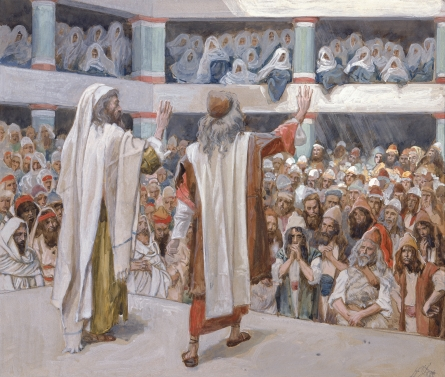Moses and Aaron Speak to the People, c.1896 - c.1902 - James Tissot
