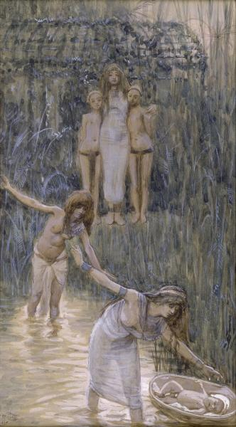 Pharaoh's Daughter Has Moses Brought to Her, c.1896 - c.1902 - James Tissot
