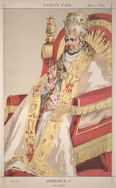Sovereigns No.60 Caricature of Pope Pius IX - James Tissot