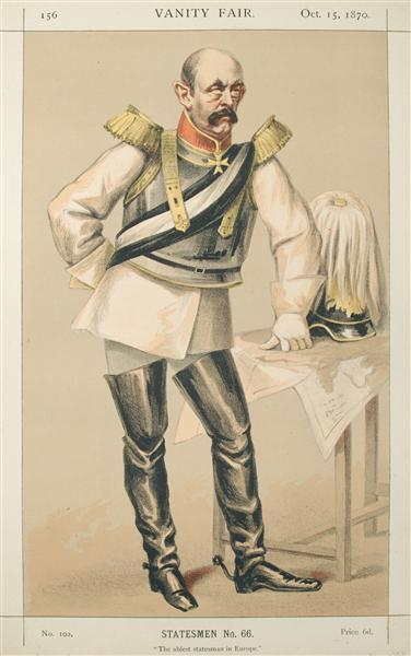 Statesmen No.660 Caricature of Count von Bismarck Schoenausen - James Tissot