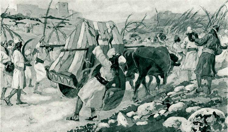 The Chastisement of Uzzah, c.1902 - James Tissot