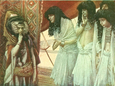 The Egyptians Admire Sarai's Beauty - James Tissot