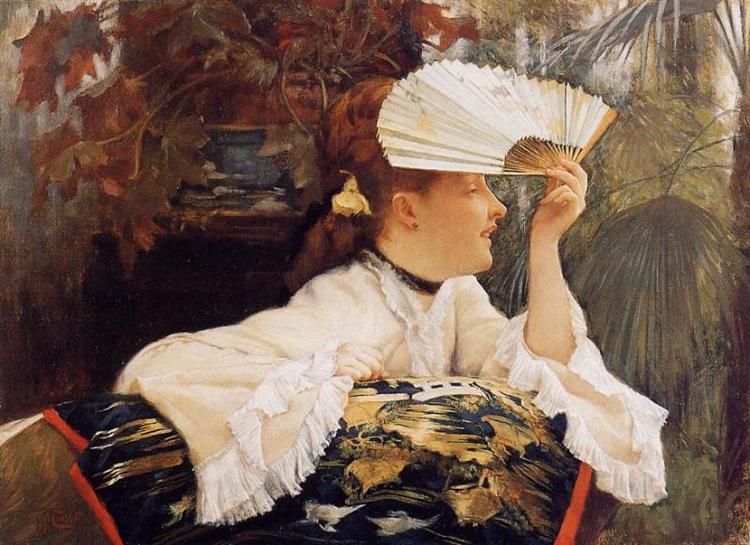 The Fan, c.1875 - James Tissot