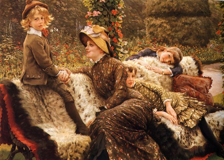 The Garden Bench, c.1882 - James Tissot