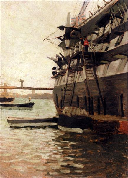 The Hull Of A Battle Ship - James Tissot