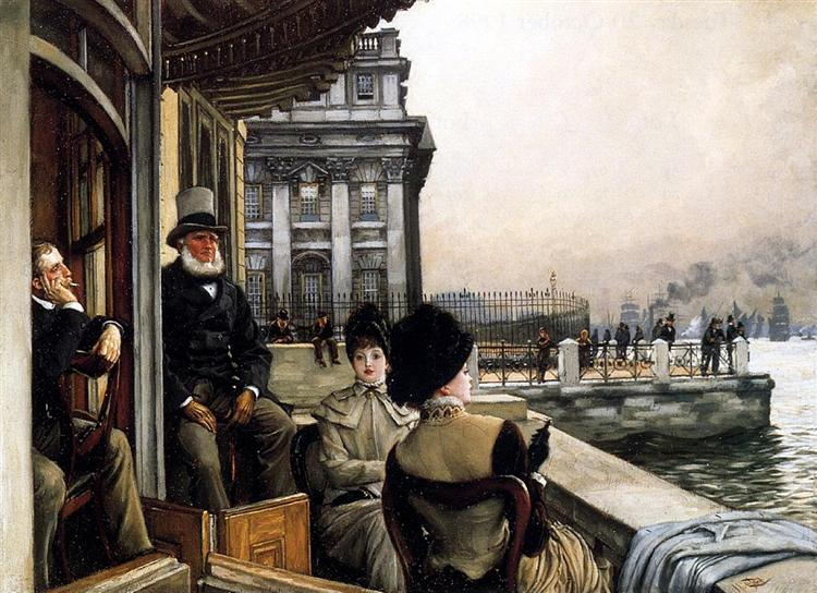 The Terrace of the Trafalgar Tavern Greenwich London - James Tissot